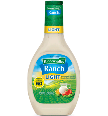 Hidden Valley Light Ranch Dressing (16oz bottle)