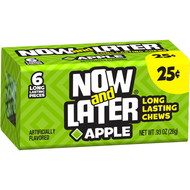Now Amp Later Chews Apple 26g A Taste Of The States