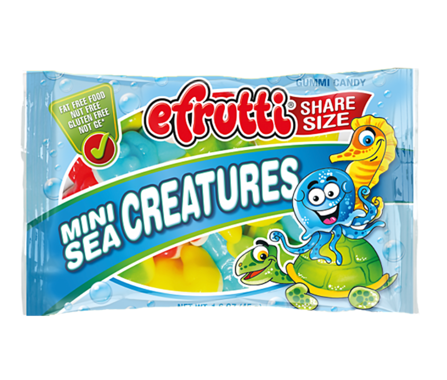 E-Frutti Mini Sea Creatures Gummies (1.4oz bag) - A Taste of the States