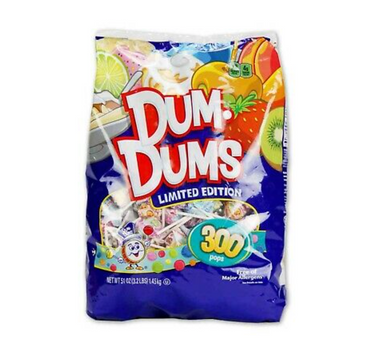 Dum Dums *Limited Edition Flavours* Lollipops XL Bag (300pcs) 1.45kg - A Taste of the States