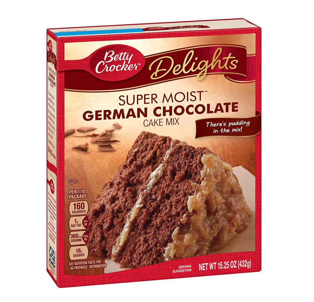 Betty Crocker German Chocolate Cake Mix (432g) - A Taste of the States