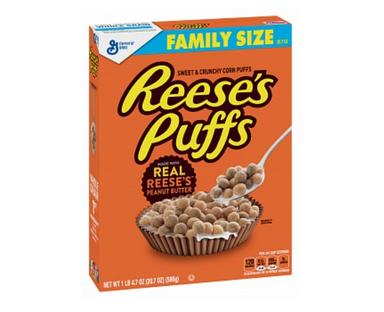 Reese's Puffs Cereal (20.7oz Family Size Box) 586g - A Taste of the States