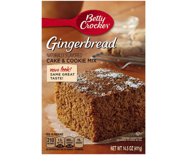 Betty Crocker Gingerbread Cake & Cookie Mix (411g) - A Taste of the States