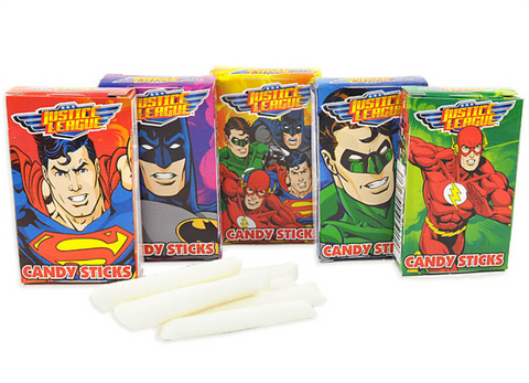 Justice League Candy Sticks with Tattoo (13g)