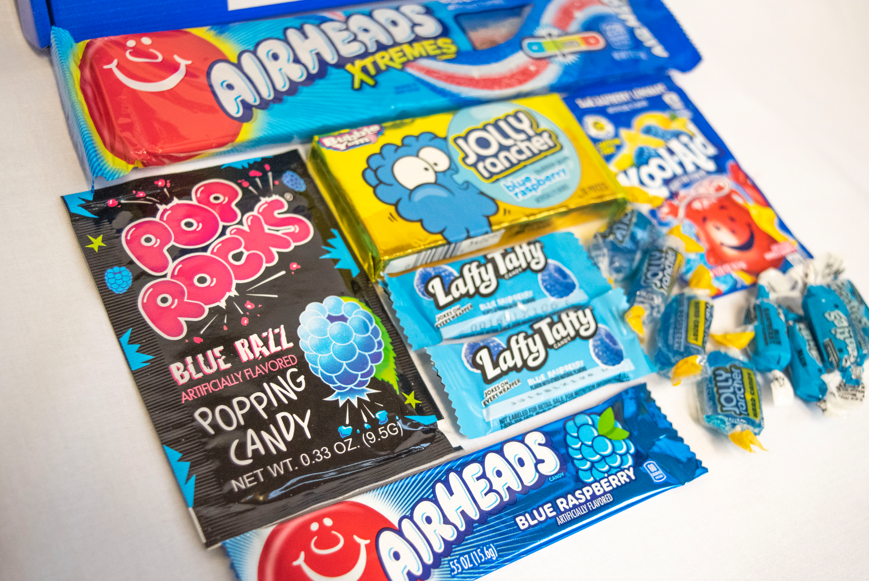 Honey, I Blue up the Kid!© Blue Raspberry Candy Letterbox Gift Hamper