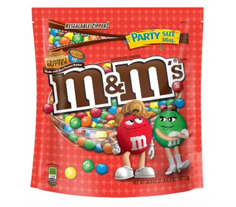 M&M's Peanut Butter XXXL 38oz Stand Up Bag (1 Kilo!) - A Taste of the States