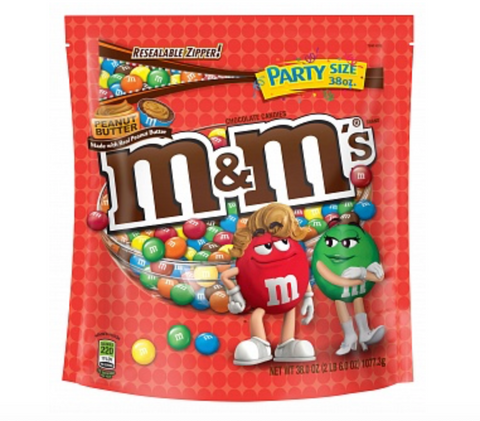 M&M's Peanut Butter XXXL 38oz Stand Up Bag (1 Kilo!)