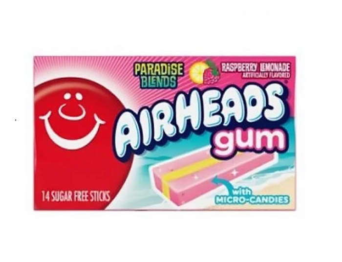 Airheads Gum: Paradise Blend Raspberry Lemonade (14pcs) - A Taste of the States