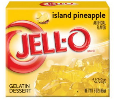 Jell-o Island Pineapple 3oz (85g) - A Taste of the States