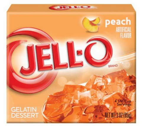Jell-o Peach 3oz (85g) - A Taste of the States