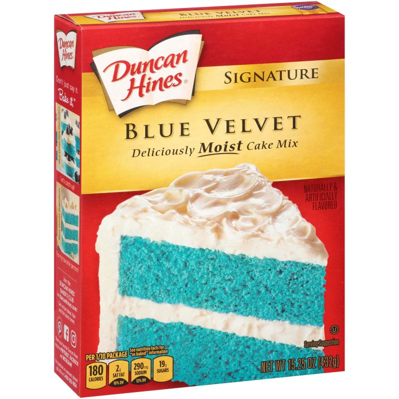 Duncan Hines Signature Blue Velvet Cake Mix (432g) - A Taste of the States