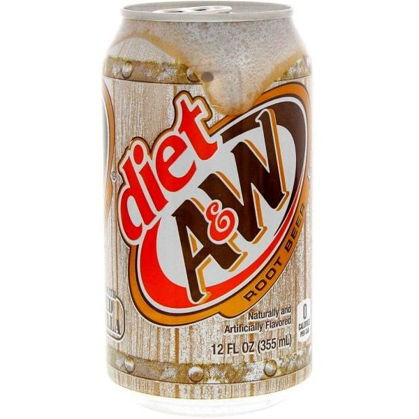 A&W Diet Root Beer (12fl.oz) - A Taste of the States