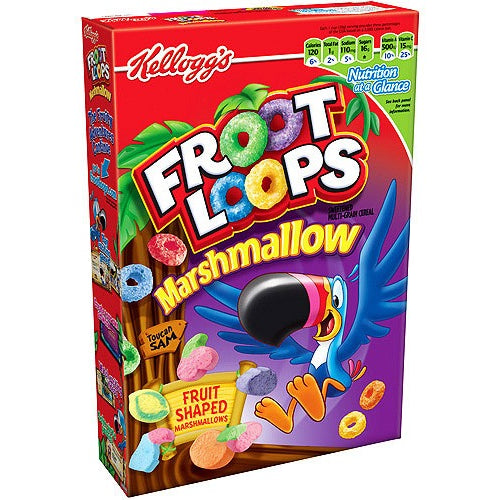 Kellogg's Froot Loops Marshmallow Cereal (297g) - A Taste of the States