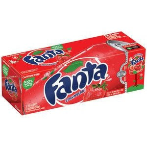 Fanta Strawberry Fridge Pack (12x355ml cans) - A Taste of the States