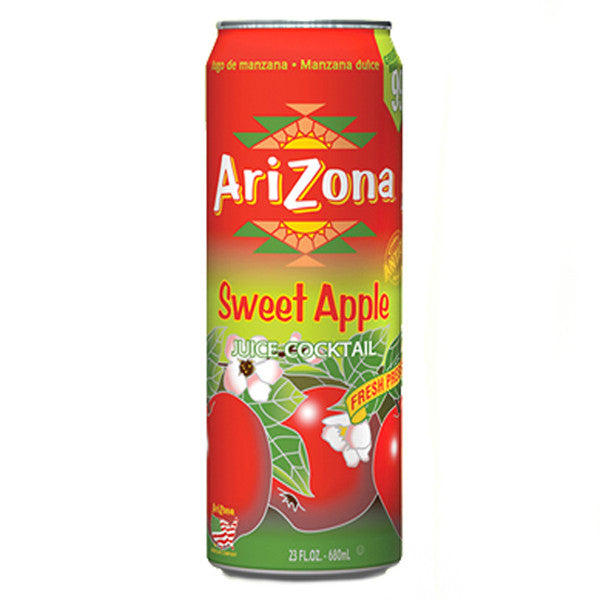 Arizona Sweet Apple Juice (XL 23oz Can) - A Taste of the States