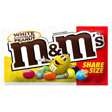 M&M's White Chocolate Peanut (Share Size) (2.8oz) - A Taste of the States