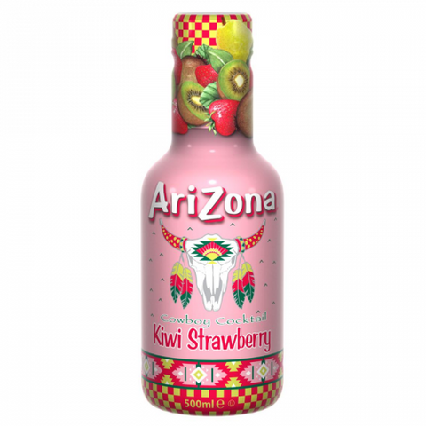 Arizona Cowboy Cocktail: Kiwi Strawberry (500ml Bottle) - A Taste of the States