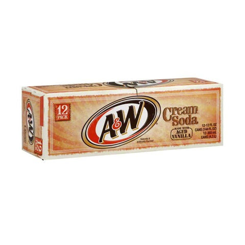 A&W Cream Soda Fridge Pack (12 cans) - A Taste of the States