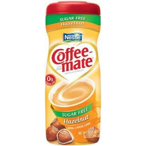 Nestle Coffee-Mate Sugar Free Hazelnut (10.2oz tub) - A Taste of the States