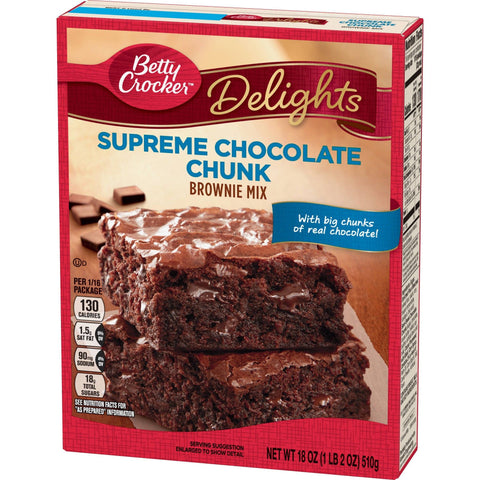 Betty Crocker Supreme Chocolate Chunk Brownie Mix (510g)