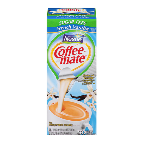 Nestle Coffee-Mate Sugar Free French Vanilla (SINGLE SERVE)