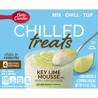 Betty Crocker Chilled Treats: Key Lime Mousse Mix (4 Pouches)