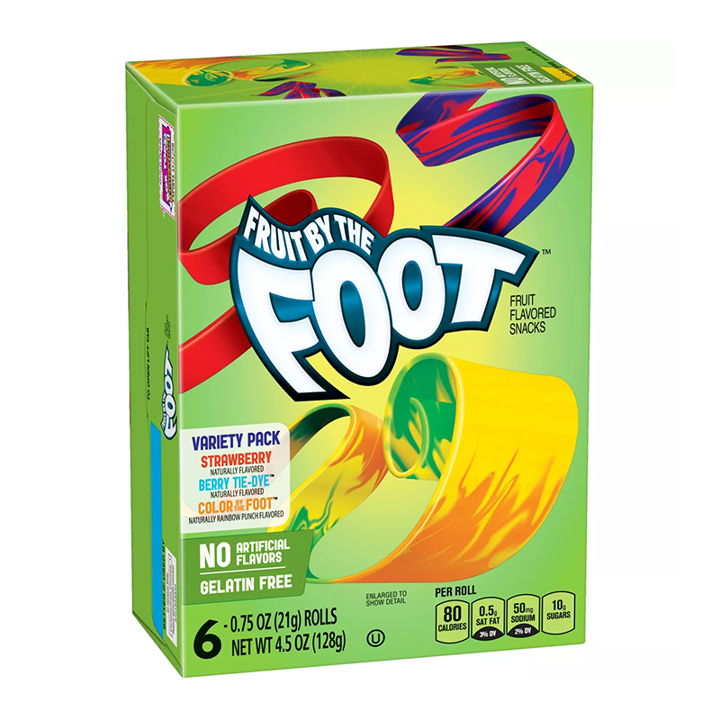 Betty Crocker Fruit by the Foot: Variety Pack (6 rolls)