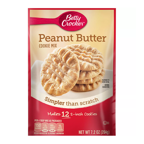 Betty Crocker™ Snack Size Peanut Butter Cookie Mix (7.2oz)