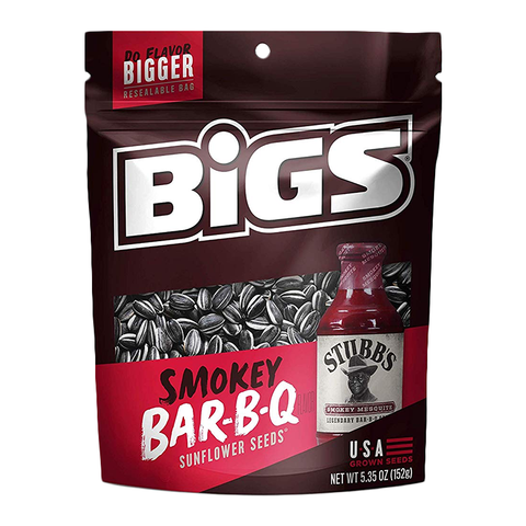 BIGS Sunflower Seeds: Stubbs Smokey BBQ (5.35oz) - A Taste of the States