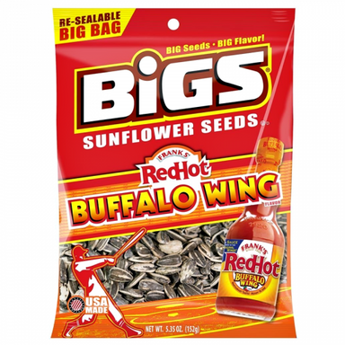 BIGS Sunflower Seeds: Franks RedHot Buffalo Wings (5.35oz) - A Taste of the States