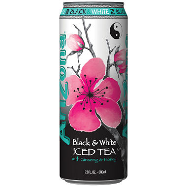 Arizona Black & White Iced Tea (XL 23oz Can) - A Taste of the States