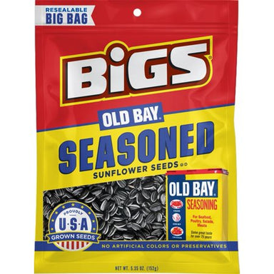BIGS Sunflower Seeds: Old Bay Seasoned (5.35oz) - A Taste of the States
