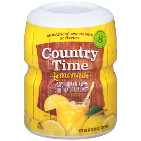 Country Time Original Lemonade Drink Mix (19oz Tub) - A Taste of the States