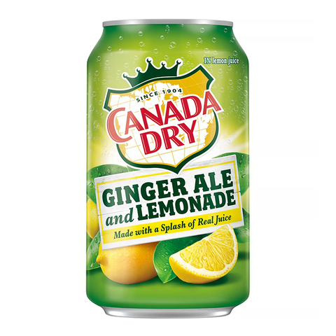 Canada Dry Ginger Ale & Lemonade (12fl.oz) - A Taste of the States