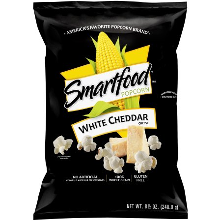 Frito-Lay SmartFood White Cheddar Popcorn (5.5oz) 156g - A Taste of the States