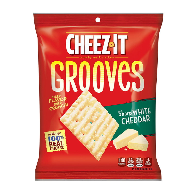 Cheez-It Grooves: Sharp White Cheddar (3.25oz)