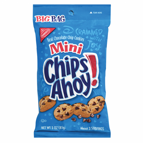 Mini Chips Ahoy! Cookies - Big Bag (85g) - A Taste of the States