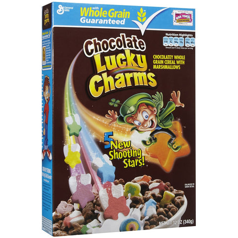 Lucky Charms Chocolate Cereal (12oz) 339g - A Taste of the States