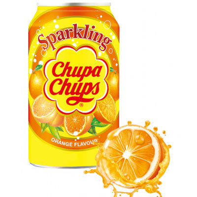 Chupa Chups Sparkling Soda: Orange (345ml)