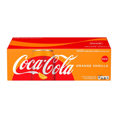 Coca-Cola Orange Vanilla Fridge Pack (12 cans) - A Taste of the States
