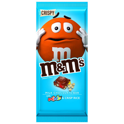 M&M's Chocolate Bar with M&M's Mini's & Crisp Rice (107g)