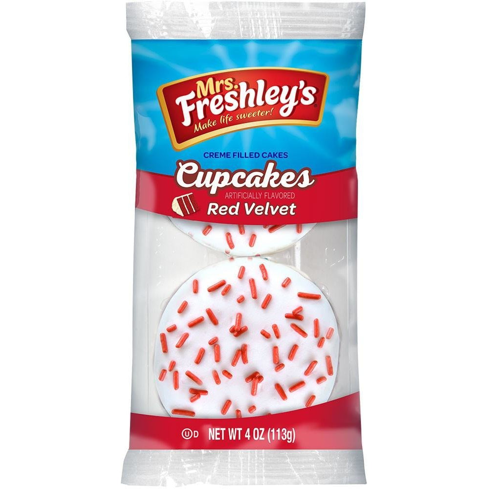 Mrs. Freshley's Red Velvet Cupcakes (twin pack) 4oz - A Taste of the States