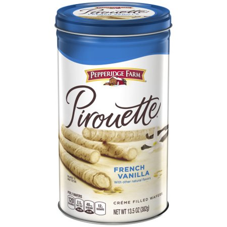 Pepperidge Farm Pirouette French Vanilla Filled Wafers (13.5oz Tin)