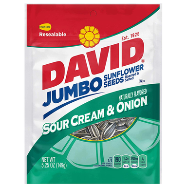 David's Sunflower Seeds: Sour Cream & Onion (5.25oz) - A Taste of the States