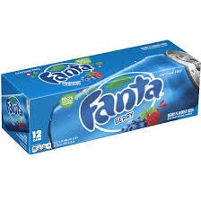 Fanta Berry Blue Fridge Pack (12x355ml cans) - A Taste of the States
