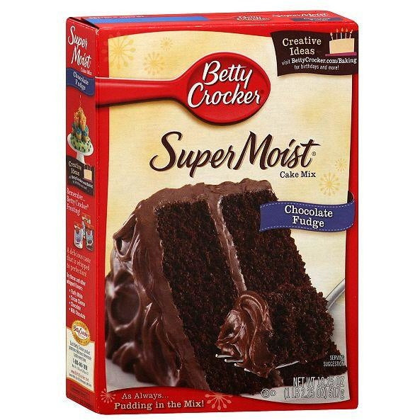 Betty Crocker Super Moist Chocolate Fudge Cake Mix (432g) - A Taste of the States