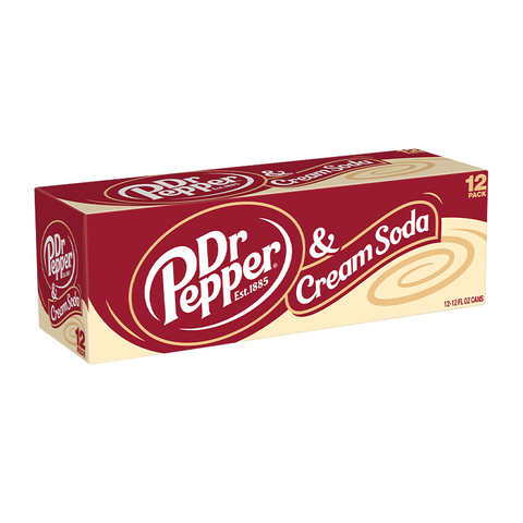 Dr Pepper & Cream Soda Fridge pack (12 cans)