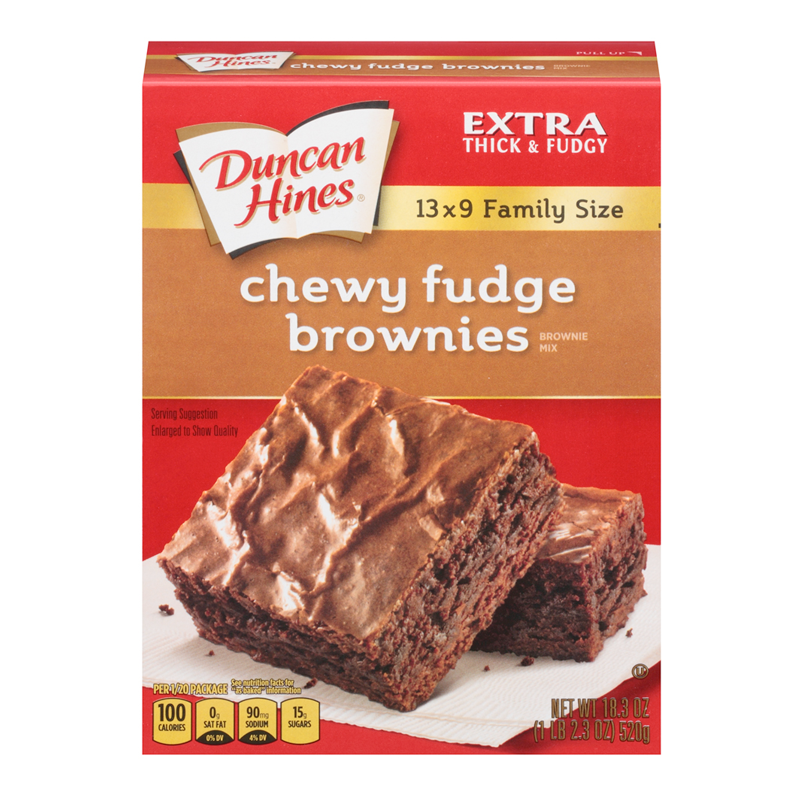 Duncan Hines Family Size Chewy Fudge Brownies Mix 18.3oz (520g) - A Taste of the States