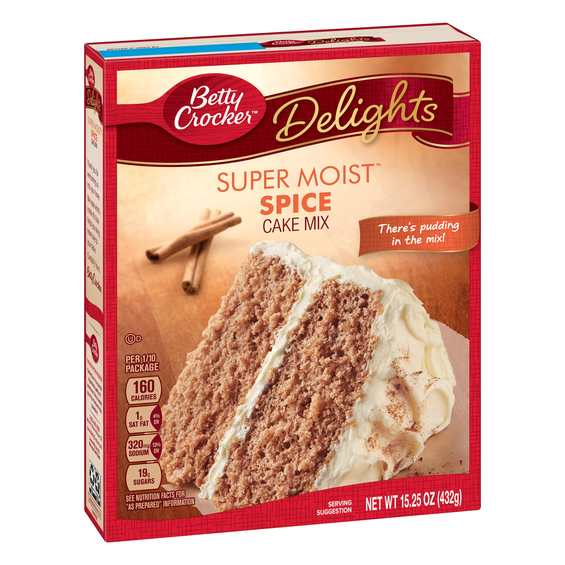 Betty Crocker Super Moist Spice Cake Mix (432g) - A Taste of the States