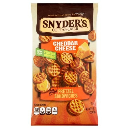 Snyder's Pretzel Cheddar Cheese Sandwiches (60g) - A Taste of the States